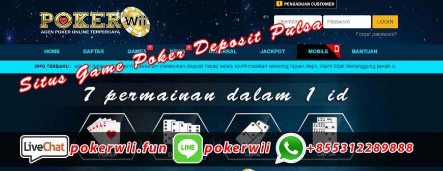 Situs Game Poker Deposit Pulsa